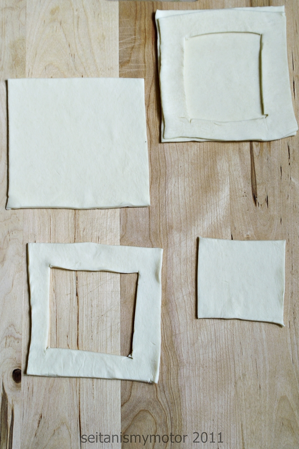 preparing puff pastry sheets