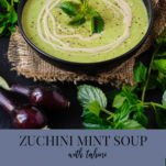 A bowl of zucchini soup.